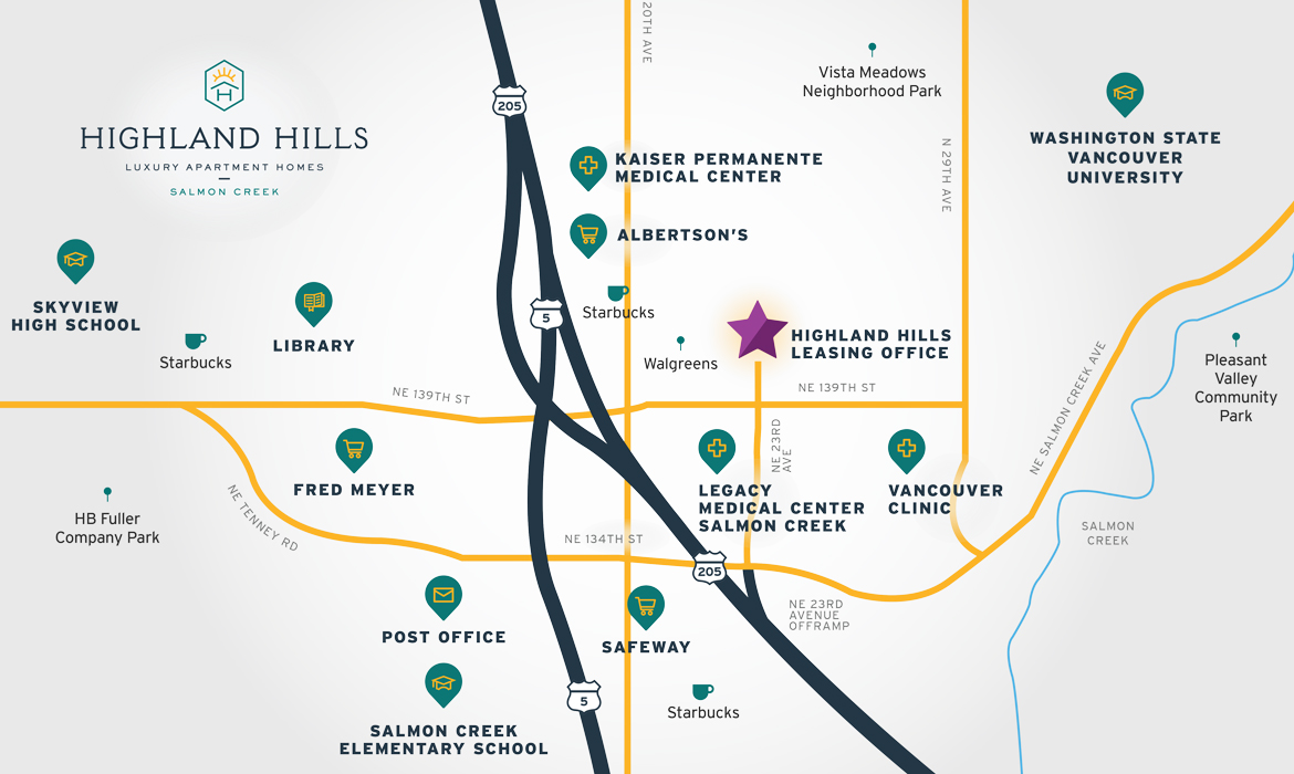 Highland Hills map